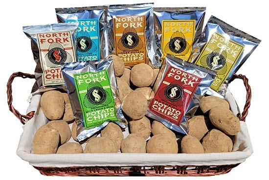 North Fork Potato Chips - Basket of Chips